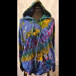 Batik Hoodie i Medium/Large