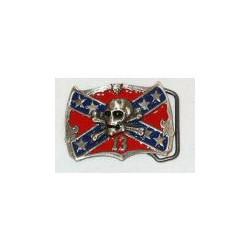 Sydstatsflagga med skalle