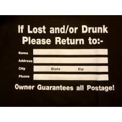 If lost and/or drunk please...