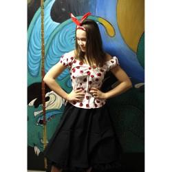 Svart kjol 50 tal rockabilly