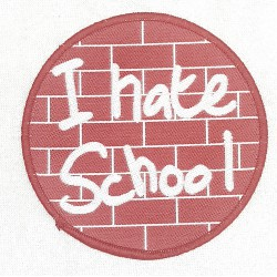 I hate school Patch