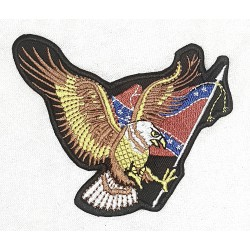 Örn Sydstatsflagga Patch