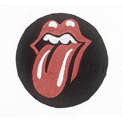 Rolling Stones rund Patch